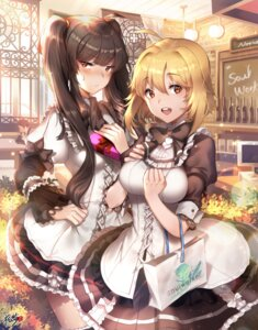 Rating: Safe Score: 52 Tags: haru_estia kyjsogom lily_bloomerchen soul_worker valentine waitress User: Mr_GT