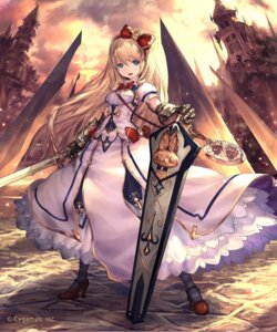 Rating: Safe Score: 102 Tags: armor dress heels jpeg_artifacts shingeki_no_bahamut sword tachikawa_mushimaro User: Mr_GT