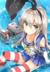 Rating: Safe Score: 25 Tags: kantai_collection nagisa_(imizogami) shimakaze_(kancolle) thighhighs wet_clothes User: Radioactive