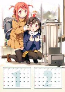 Rating: Safe Score: 61 Tags: 5_nenme_no_houkago calendar kantoku kurumi_(kantoku) pantyhose shizuku_(kantoku) thighhighs User: Hatsukoi