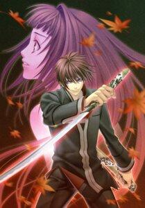 Rating: Safe Score: 8 Tags: hiiro_no_kakera kasuga_tamaki kazuki_yone onizaki_takuma screening sword User: charunetra
