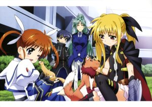 Rating: Questionable Score: 10 Tags: arf fate_testarossa lindy_harlaown mahou_shoujo_lyrical_nanoha takamachi_nanoha yuuno_scrya User: drop