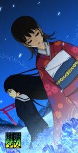 Rating: Safe Score: 4 Tags: enma_ai jigoku_shoujo kimono mikage_yuzuki seifuku User: Radioactive