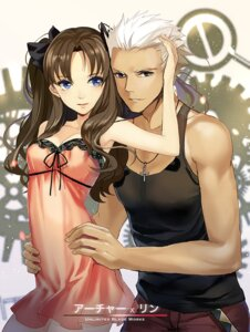Rating: Safe Score: 65 Tags: archer cleavage fate/stay_night lingerie see_through sheska_xue toosaka_rin User: fairyren