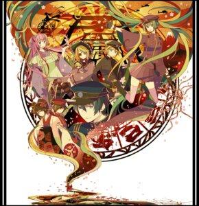 Rating: Safe Score: 15 Tags: hatsune_miku kagamine_len kagamine_rin kaito megurine_luka meiko senbon-zakura_(vocaloid) vocaloid yuuno_(yukioka) User: Erikan