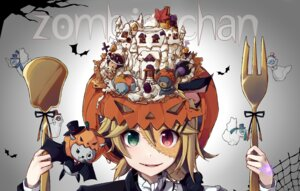 Rating: Safe Score: 30 Tags: halloween heterochromia kagamine_rin nou tattoo vocaloid User: RaulDJ747