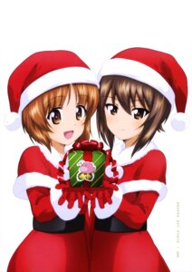 Rating: Safe Score: 7 Tags: christmas dress girls_und_panzer nishizumi_maho nishizumi_miho User: drop