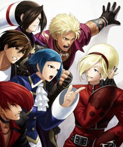 Rating: Safe Score: 3 Tags: dou_lon eisuke_ogura elizabeth_blanchtorche king_of_fighters king_of_fighters_xiii kusanagi_kyou shen_woo snk yagami_iori User: Yokaiou