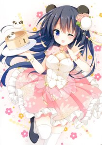 Rating: Questionable Score: 25 Tags: animal_ears asian_clothes cleavage izumi_nanase thighhighs User: Radioactive