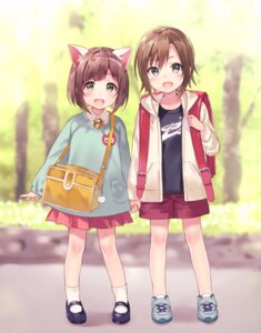 Rating: Safe Score: 57 Tags: animal_ears fukahire_sanba maekawa_miku nekomimi tada_riina the_idolm@ster the_idolm@ster_cinderella_girls User: nphuongsun93