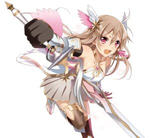 Rating: Safe Score: 68 Tags: armor dress murakami_yuichi sanjo_tsubaki sword thighhighs unsimulated_incubator_eiyuu_butai_kakusei User: charunetra