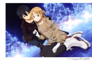 Rating: Safe Score: 30 Tags: asuna_(sword_art_online) kirito kobayashi_naoki pantyhose sword_art_online User: drop