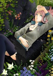 Rating: Safe Score: 15 Tags: cleavage headphones megurine_luka sism thighhighs vocaloid User: charunetra