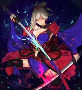 Rating: Safe Score: 15 Tags: cleavage fate/grand_order japanese_clothes kisaragi_chiyuki miyamoto_musashi_(fate/grand_order) sword thighhighs User: mash