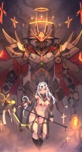 Rating: Questionable Score: 17 Tags: bikini_armor garter mecha tagme weapon User: Dreista