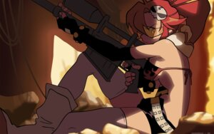 Rating: Safe Score: 12 Tags: bikini_top tengen_toppa_gurren_lagann thighhighs vector_trace watermark yoko User: Radioactive