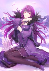 Rating: Safe Score: 31 Tags: bibimbub breast_hold cleavage dress fate/grand_order heels pantyhose scathach_skadi weapon User: Mr_GT