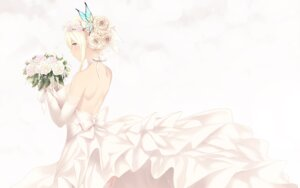 Rating: Safe Score: 43 Tags: boku_wa_tomodachi_ga_sukunai cait dress kashiwazaki_sena no_bra skirt_lift stockings thighhighs wallpaper wedding_dress User: Mr_GT