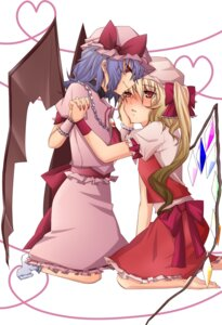 Rating: Safe Score: 4 Tags: flandre_scarlet remilia_scarlet shinsei touhou wings User: itsu-chan
