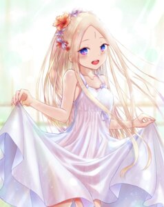 Rating: Safe Score: 59 Tags: abigail_williams_(fate/grand_order) dress fate/grand_order no_bra nopan sanka_tan see_through skirt_lift summer_dress User: yanis