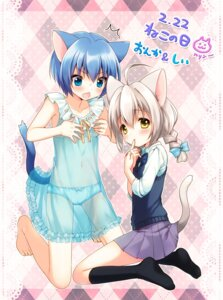 Rating: Questionable Score: 44 Tags: animal_ears lingerie loli mani nekomimi onka pantsu see_through tail User: blooregardo