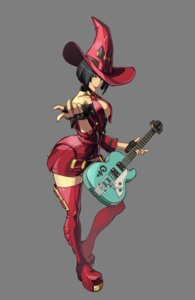 Rating: Questionable Score: 14 Tags: cleavage guilty_gear guilty_gear_xrd_revelator guitar heels i-no no_bra open_shirt thighhighs transparent_png witch User: Yokaiou