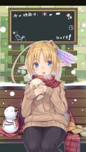 Rating: Safe Score: 32 Tags: elf pantyhose pointy_ears sweater yukisan User: Mr_GT