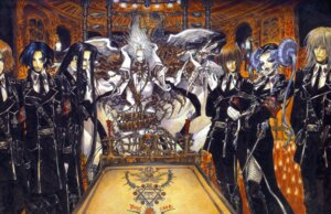 Rating: Safe Score: 8 Tags: cain_nightroad dietrich_von_lohengrin dress fishnets isaak_fernand_von_kampfer pantyhose thighhighs thores_shibamoto trinity_blood uniform wings User: Radioactive