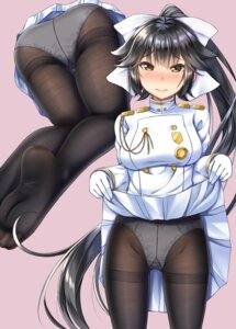 Rating: Questionable Score: 30 Tags: ass azur_lane gurande pantsu pantyhose skirt_lift takao_(azur_lane) uniform User: RyuZU