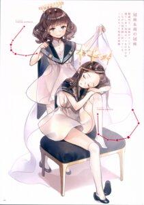 Rating: Safe Score: 18 Tags: ancotaku dress no_bra seifuku sentiment_color thighhighs User: Radioactive