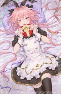 Rating: Safe Score: 11 Tags: astolfo_(fate) azaka_(rionrita) fate/grand_order maid thighhighs trap valentine User: BattlequeenYume