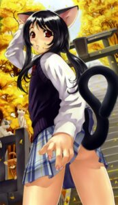 Rating: Questionable Score: 31 Tags: animal_ears eiwa nekomimi seifuku tail User: hugo_victor