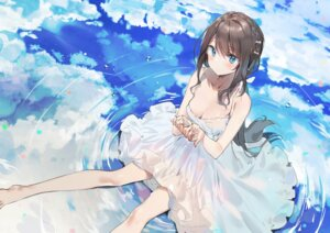 Rating: Safe Score: 61 Tags: cleavage dress kurutsu see_through summer_dress wet_clothes User: lounger