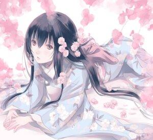Rating: Safe Score: 27 Tags: fuuchouin_kazuki get_backers kimono papillon10 trap User: charunetra