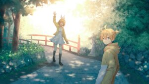 Rating: Safe Score: 29 Tags: dress kagamine_len kagamine_rin mimengfeixue vocaloid User: charunetra