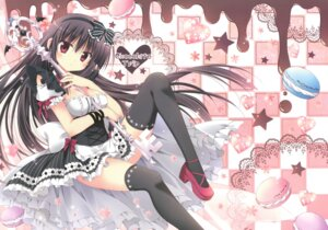 Rating: Safe Score: 61 Tags: cleavage heels korie_riko maid mujin_shoujo thighhighs yami_alice User: Twinsenzw