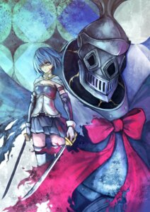 Rating: Safe Score: 10 Tags: armor haimerejzero miki_sayaka oktavia_von_seckendorff_(puella_magi_madoka_magica) puella_magi_madoka_magica sword thighhighs User: Radioactive