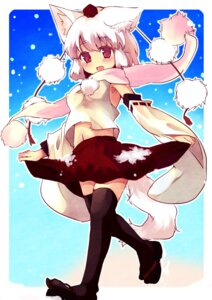 Rating: Safe Score: 12 Tags: animal_ears inubashiri_momiji kaji_otto tail thighhighs touhou User: Mr_GT