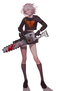 Rating: Questionable Score: 30 Tags: blood garter gun seifuku tagme weapon User: Radioactive