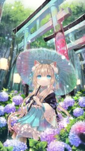 Rating: Safe Score: 44 Tags: animal_ears japanese_clothes umbrella yumeichigo_alice User: Mr_GT