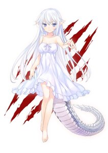 Rating: Questionable Score: 46 Tags: 47agdragon anthropomorphization dress monster_girl pointy_ears summer_dress tail User: fairyren