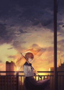 Rating: Safe Score: 16 Tags: akito_(d30n26) landscape seifuku umbrella User: Dreista