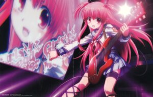 Rating: Safe Score: 33 Tags: angel_beats! crease disc_cover fixme guitar hirata_katsuzou overfiltered seifuku tail yui_(angel_beats!) User: risette