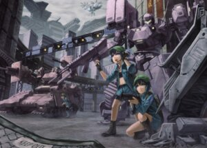 Rating: Safe Score: 23 Tags: armored_core armored_core_5 crossover gun kawashiro_nitori kurione mecha touhou User: Radioactive