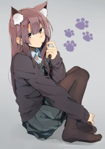 Rating: Safe Score: 80 Tags: animal_ears feet kazenoko pantyhose seifuku sweater User: Mr_GT