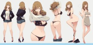 Rating: Questionable Score: 60 Tags: ass bikini bottomless breast_hold cleavage heels mikoto_akemi pantsu panty_pull shirt_lift swimsuits thong towel undressing User: saemonnokami