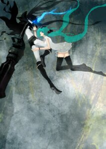 Rating: Safe Score: 12 Tags: black_rock_shooter black_rock_shooter_(character) hatsune_miku kisetsu thighhighs vocaloid world_is_mine_(vocaloid) User: charunetra