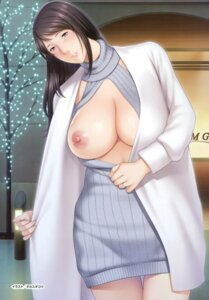 Rating: Questionable Score: 34 Tags: anim breasts dress nipples no_bra open_shirt sweater takasugi_kou User: Twinsenzw