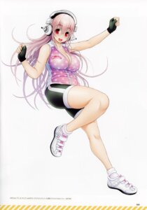 Rating: Safe Score: 15 Tags: bike_shorts cleavage gym_uniform headphones sonico super_sonico tsuji_santa User: kiyoe