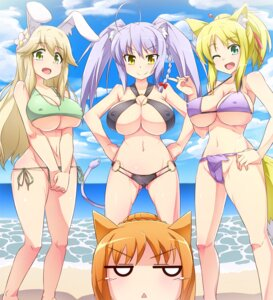 Rating: Questionable Score: 50 Tags: animal_ears bikini cameltoe cleavage dog_days erect_nipples kitsune leonmitchelli_galette_des_rois ricotta_elmar swimsuits tagme tail underboob vert_farbreton yukikaze_panettone User: Madao